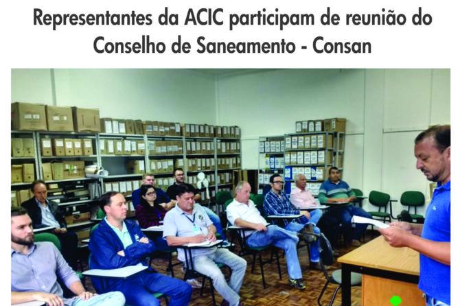 Representantes da ACIC participam de reunião do Conselho de Saneamento – Consan