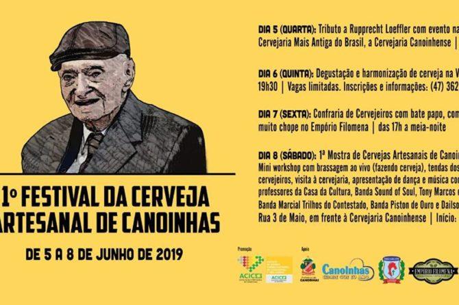Canoinhas terá 1º Festival da Cerveja Artesanal no mês de junho