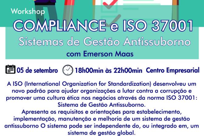 ACIC realizará Workshop sobre Compliance e ISO 37001 em Canoinhas