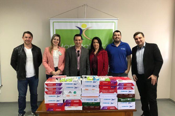 Hospital Santa Cruz de Canoinhas Recebe as Arrecadações da Semana Dos Núcleos