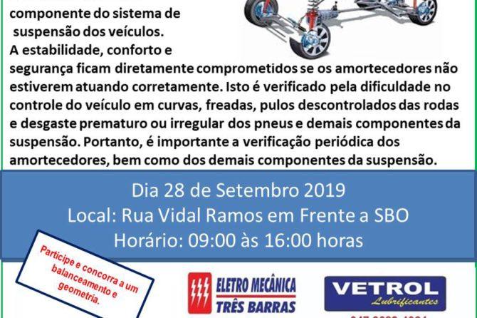 Núcleo de reparação automotiva da ACIC realizará avaliação gratuita de amortecedores no próximo sábado