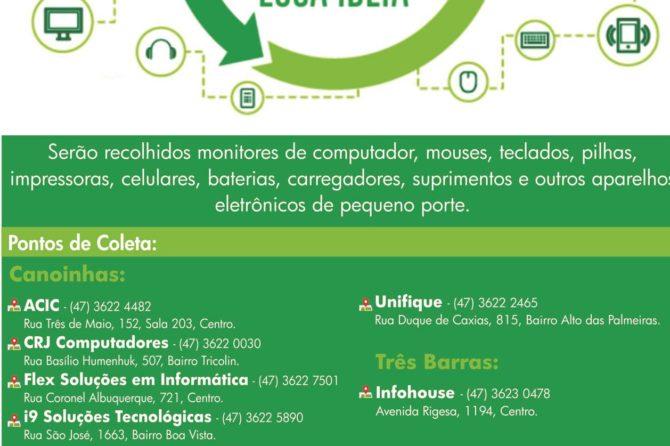 "NTIPLAN realizou no último sábado dia 28 de setembro o ""Dia D"" da Campanha Coleta de Lixo Eletrônico"