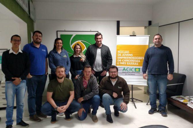 Núcleo de Jovens Empreendedores da ACIC recebe Secretário  de Desenvolvimento Econômico de Três Barras