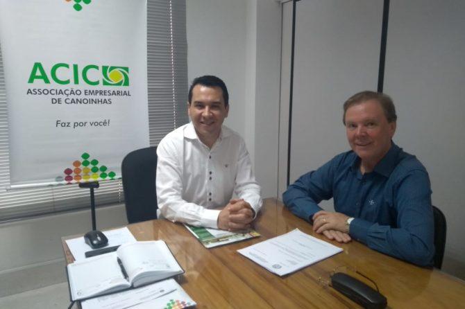 Presidente da ACIC recebe Secretário de  Desenvolvimento  Econômico de Canoinhas