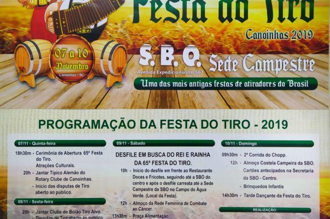 65ª Festa do Tiro inicia nesta quinta-feira em Canoinhas