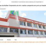 Núcleo da Mulher Empresária da Acic realiza campanha em prol ao Hospital Santa Cruz – Fonte: Portal JMais