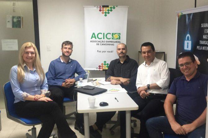 ACIC recebe equipe comercial da FACISC