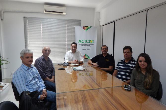Presidente da ACIC recebe representantes da Pif Paf Alimentos